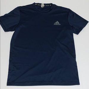 Adidas Men's Short Sleeve Shirt, Navy Blue,Medium